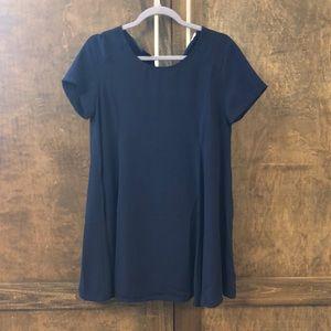 LUSH navy blue shift dress